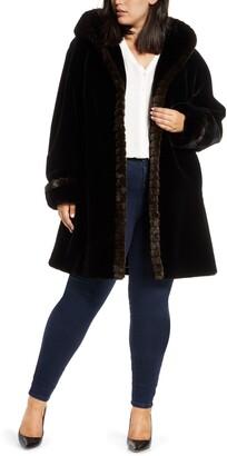 Gallery Faux Fur Swing Coat