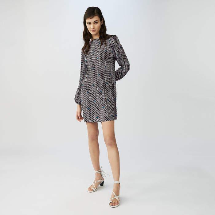 Maje Pleated printed dress