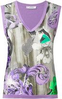 Versace floral print vest - women - Silk/Cotton - 40