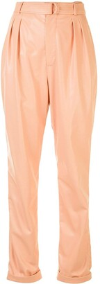 Sally LaPointe Faux Leather Trousers
