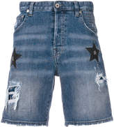 Just Cavalli star patch denim shorts