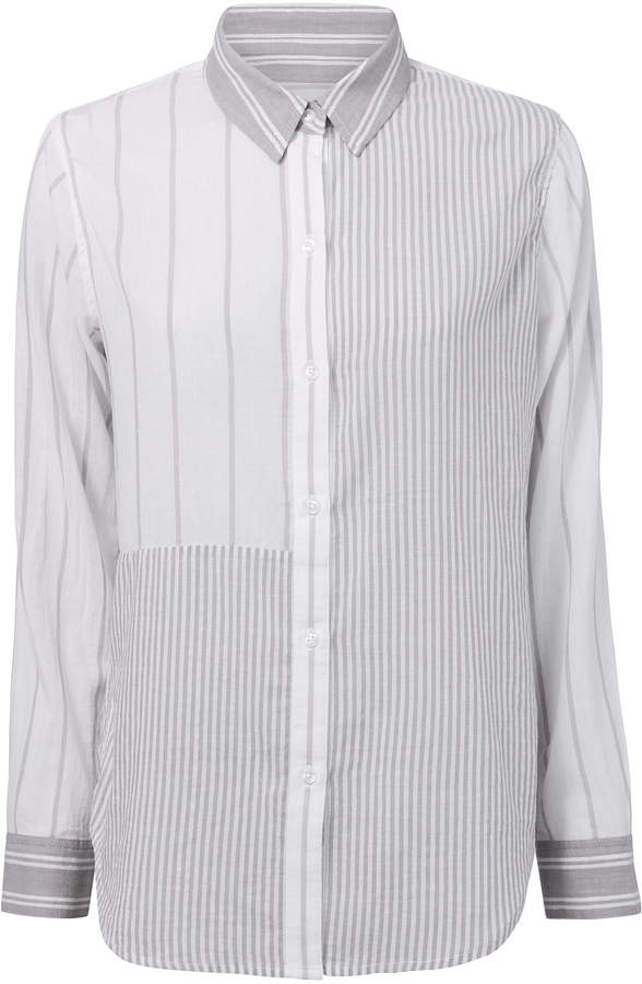 Rails Erika Mixed Grey Stripes Shirt