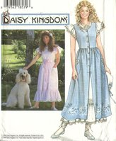 Simplicity sewing pattern 7011 Daisy Kingdom pinafore and dress - Size 6-10