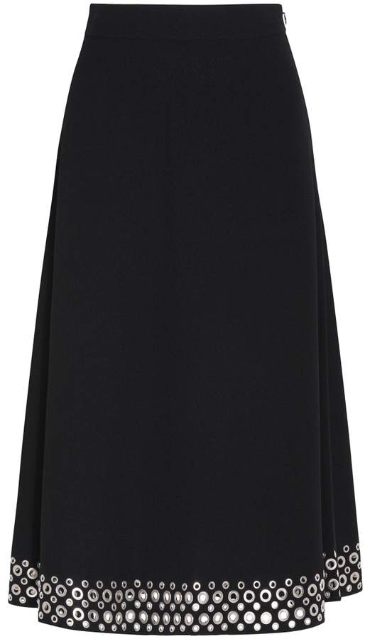 Alexander Wang Embellished High Waist Skirt