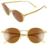 Ray-Ban Women's 49Mm Round Sunglasses - Mat Yellow