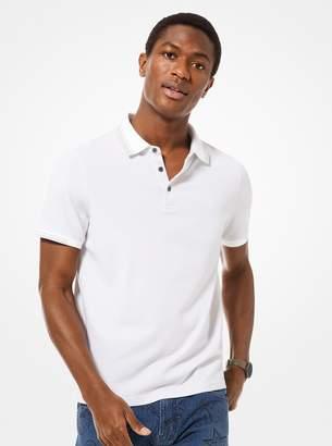 Michael Kors Greenwich Stretch-Cotton Polo Shirt