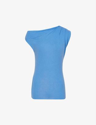 Reiss Melanie wool and cashmere-blend Bardot top