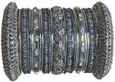 Indian Bridal Collection! Panache' Bangles Set in Silver Tone By BangleEmporium. X-Small
