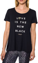 Betsey Johnson Love Is The New Black Tee