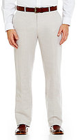 Perry Ellis Big & Tall Regular-Fit Flat-Front Solid Linen Pants