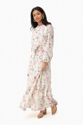 Athina Eyelet Long Sleeve Dress