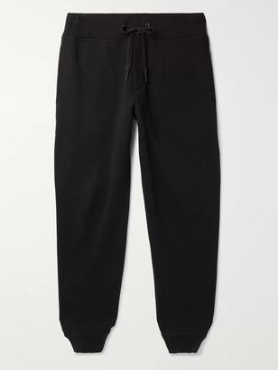 Rag & Bone Damon Fleece-Back Cotton-Blend Jersey Sweatpants - Men - Black
