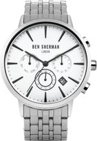 Ben Sherman Men's WB028SMA Portobello Professional Analog Display Quartz Silver Watch