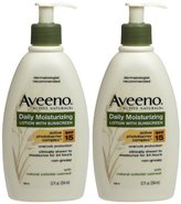 Aveeno Daily Moisturizing Lotion with Sunscreen, SPF 15 - 12 oz - 2 pk