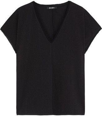 DKNY Stretch-crepe Top