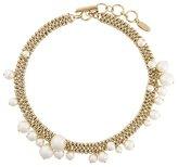 Lanvin pearl hoop detail necklace