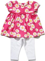 M&Co Daisy print smock top and leggings set
