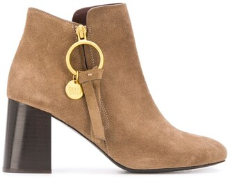 See by Chloe Louise logo charm ankle boots