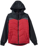 Pacific Trail Boys 8-20 Colorblock Vest Hoodie