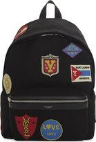 Saint Laurent City Patches Backpack