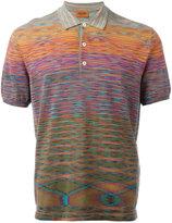 Missoni blurry pattern polo shirt - men - Cotton - 50