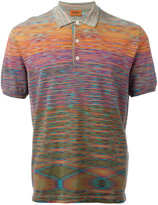 Missoni blurry pattern polo shirt