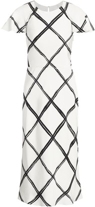 Jason Wu Collection Windowpane Crepe De Chine Sheath Dress