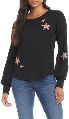 Karen Kane Embellished Fleece Top