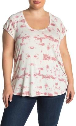 H By Bordeaux Tie-Dye Scoop Neck T-Shirt (Plus Size)