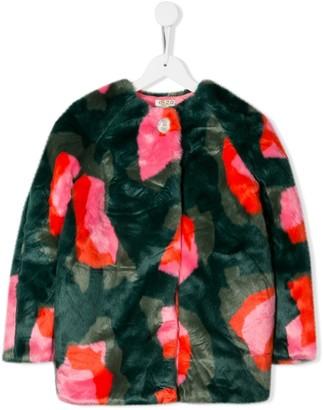Kenzo Kids Faux-Fur Midi Coat