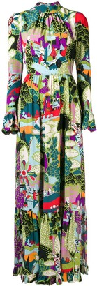 La DoubleJ Scenery Print Dress