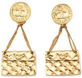 Chanel flap bag drop earring