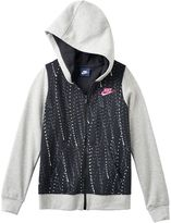 Nike Girls 7-16 Polka Dot Graphic Zip-Up Hoodie