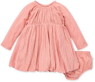 Burt's Bees Pointelle Organic Baby Bubble Dress & Diaper Cover Set