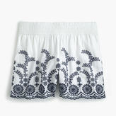 J.Crew Pull-on short with floral embroidery