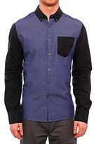 Kenneth Cole Reaction Men's Color Block Button Down Shirt with Contrast Collar