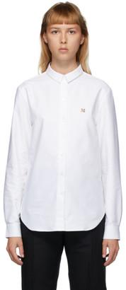 MAISON KITSUNÉ White Fox Head Oxford Shirt
