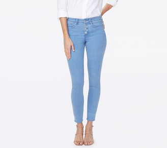 NYDJ Ami Ankle Exposed Button Fly Jeans - Belle Isle