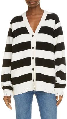 Marc Jacobs The Grunge Stripe Wool Cardigan