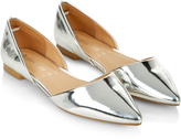Accessorize Metallic Two Part Pointed Flat Shoes