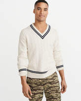 Abercrombie & Fitch Cable V-Neck Sweater