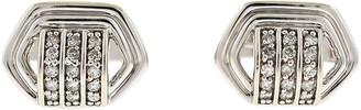 One Kings Lane Vintage 14K White Gold & Diamond Cuff Links - BRP Luxury/OKL