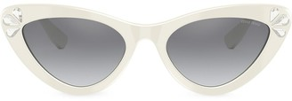 Miu Miu Rhinestone-Embellished Cat-Eye Sunglasses