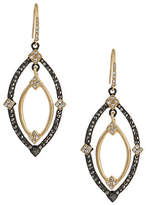 ABS by Allen Schwartz Embellished Navette Orbital Drop Earrings