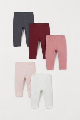 H&M 5-pack Jersey Leggings - Red
