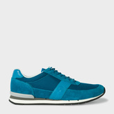 Paul Smith Men's Teal Suede And Mesh 'Swanson' Trainers