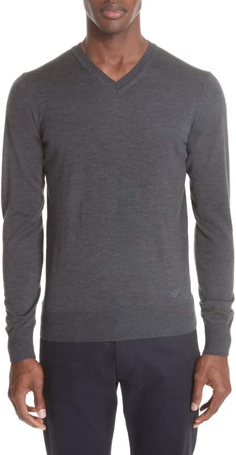 Emporio Armani V-Neck Wool Sweater