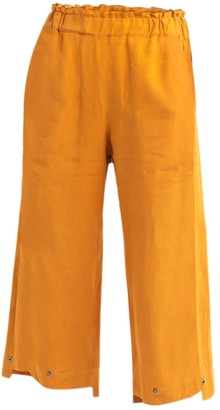 Cleo Prickett Irish Linen Crop Trousers