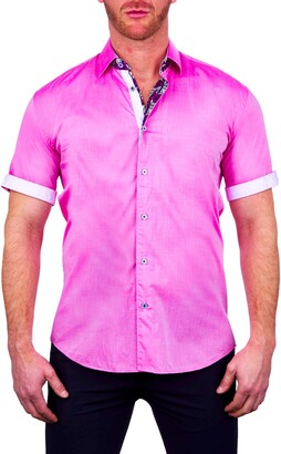 Maceoo Galileo Elegant Short Sleeve Button-Up Shirt