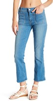 Mother The Patch Slacker Cropped Flare Jeans